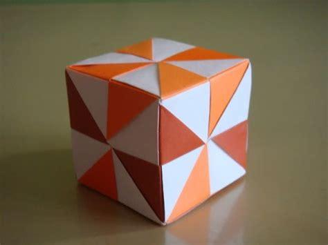 Origami Cubes - origami maniacs origami pinwheel cube