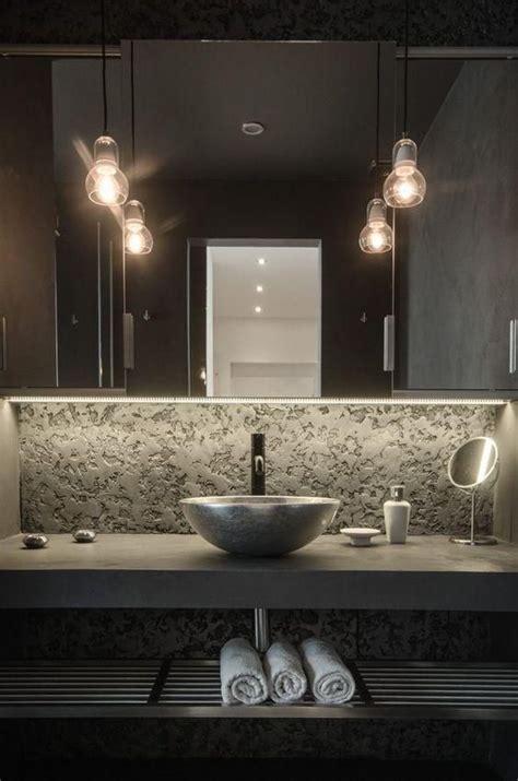 badezimmer eitelkeit mit waschbecken beton und metall badezimmer eitelkeit mit einem stein