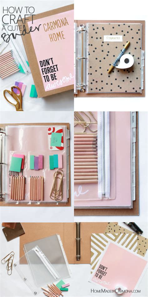 make your home beautiful with accessories how to craft a cute binder home made by carmona