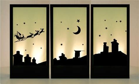 christmas house silhouettes christmas roof top