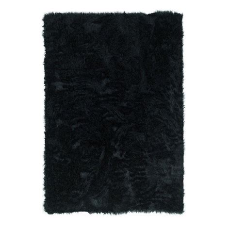 Sheepskin Area Rug Home Decorators Collection Faux Sheepskin Black 3 Ft X 5 Ft Area Rug 5248210210 The Home Depot