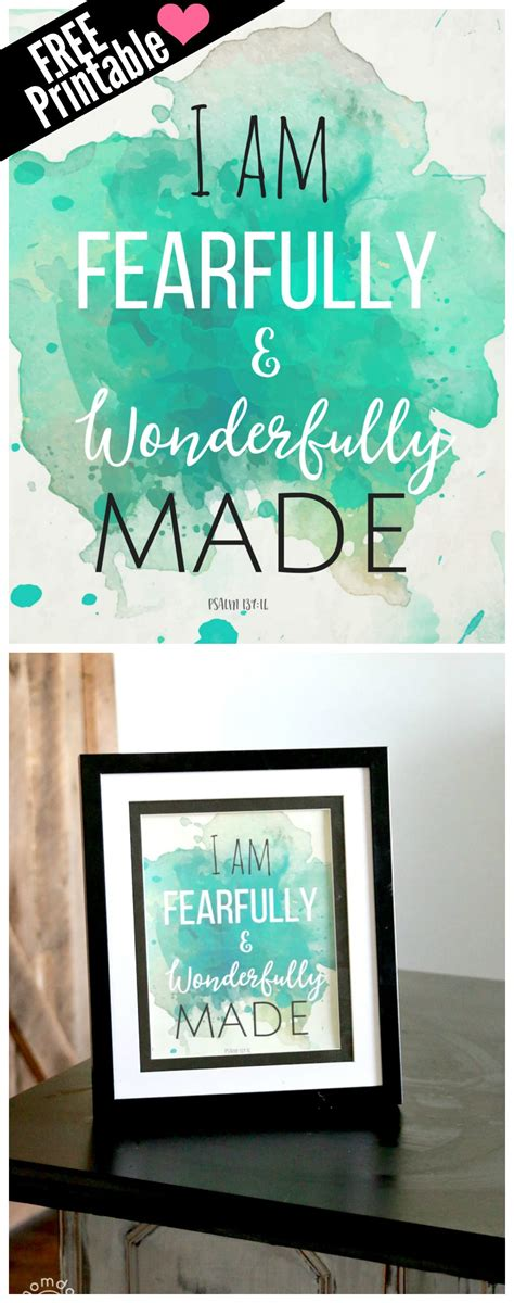 free printable for the home i am fearfully and