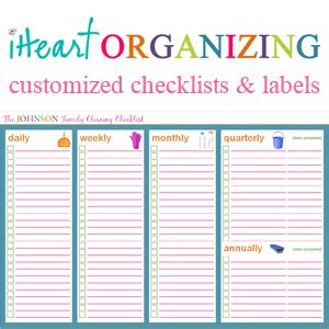 home organization templates iheart organizing march challenge project quot household