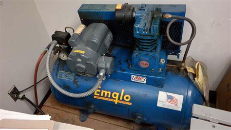 lot  emglo model  hp air compressor wirebids
