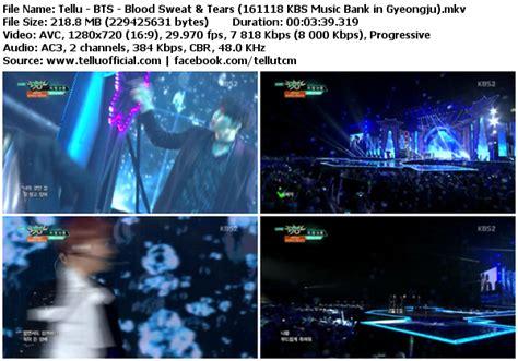 download mp3 bts run k2nblog download perf bts blood sweat tears kbs music bank