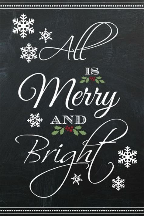 merry bright christmas printables for framing 17 best images about chalkboard on pinterest diy