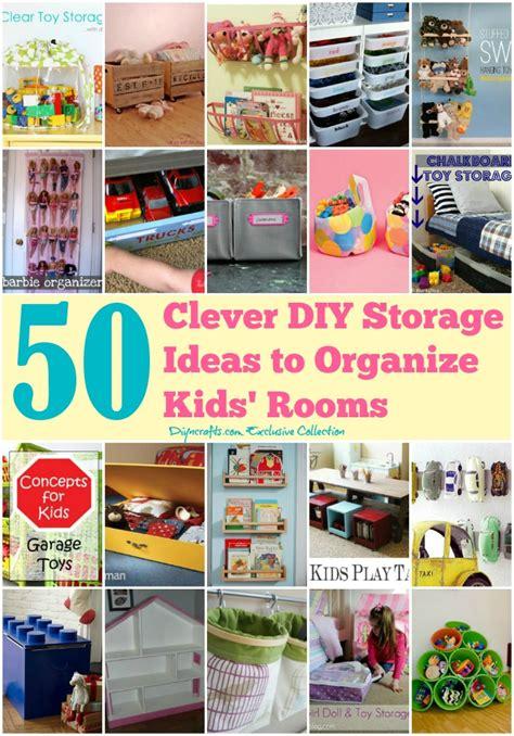 clever diy storage ideas  organize kids rooms diy crafts