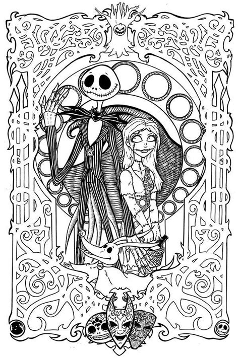 coloring pages adults disney free printables nightmare before christmas coloring pages