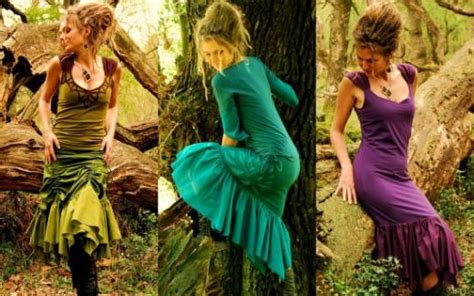 patterns in nature fashion devi clothing goddess tribal pixie wear with leaf and
