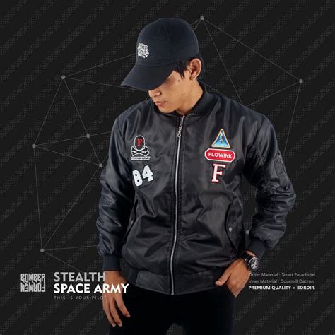 Space Army Bomber For jual jaket bomber stealth space army