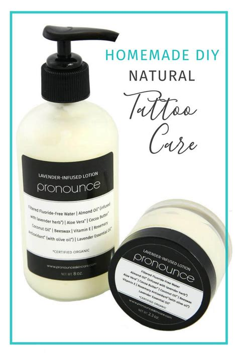natural tattoo aftercare care pronounceskincare