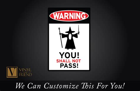 Lotr Home Decor warning you shall not pass gandolf traffic road sign an