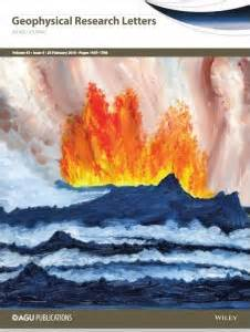 Geophysical Research Letter Journal Agu Journal Cover Features Work Of Painter Geospace Agu Blogosphere