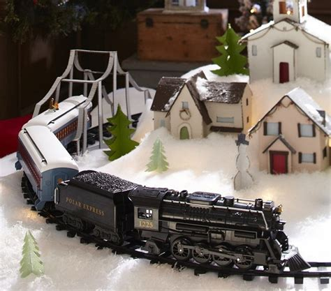 polar express christmas tree train set lionel polar express g set toys and san francisco by pottery barn