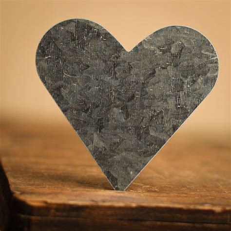galvanized tin standard hearts rusty tin cutouts basic