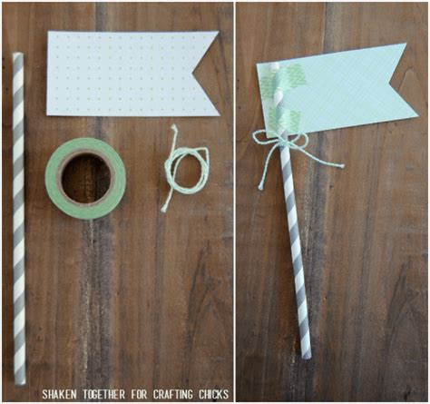 How To Make A Flag Out Of Paper - mint themed gift easy affordable
