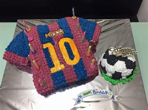 birthday cake   yrs  boyhis  big fan  messi  barcelona cake  boys