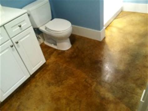 stained concrete bathroom floor concrete floor stain maine concrete staining contractor