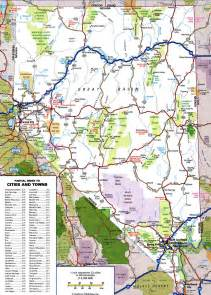 road map of nevada and california highway of nevadafree maps of us