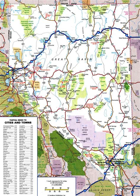 printable nevada road map map of nevada highways oregon map