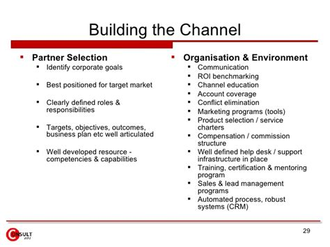 Channel Program Channel Partner Business Plan Template
