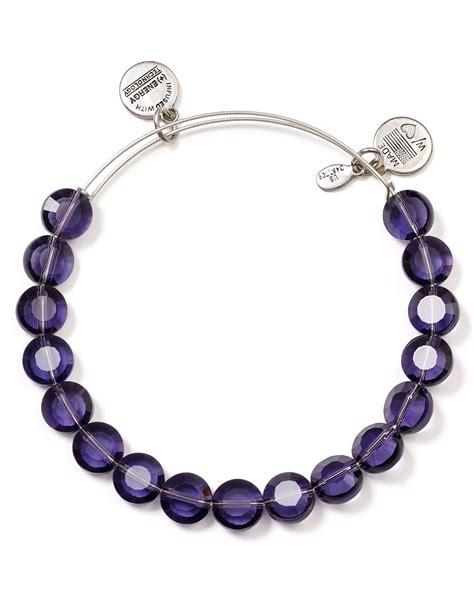 Alex And Ani Luxe Purple Bangle in Purple (Purple/Silver)   Lyst