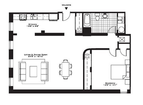 large 1 bedroom apartment floor plans one bedroom townhouse floor plans style ideas also for