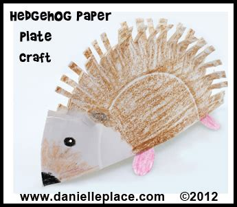 Hedgehog Paper Plate Craft - hedgehog crafts and learning activities for children