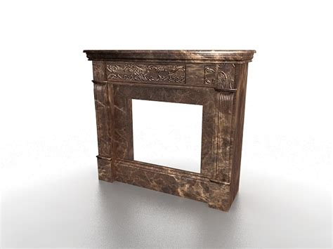 Brown Marble Fireplace by Brown Marble Fireplace Surround 3d Model 3ds Max Files