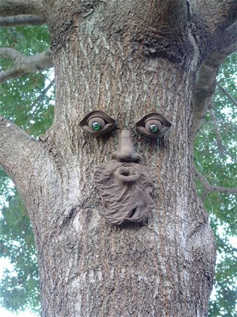 tree faces tree face decorations for your outdoor garden spaces