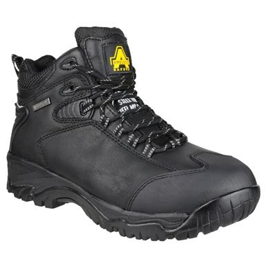 Sepatu Boots Safety Caterpilar Kansas Steel Toe Black 1 amblers fs190 steel waterproof safety boots