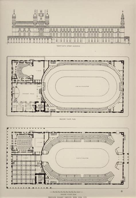 madison square garden floor plan deco dog s ephemera architectural prints