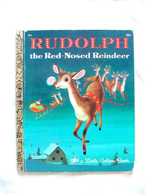 brewdolph the hop nosed reindeer books vintage 1950s rudolph the nosed reindeer golden