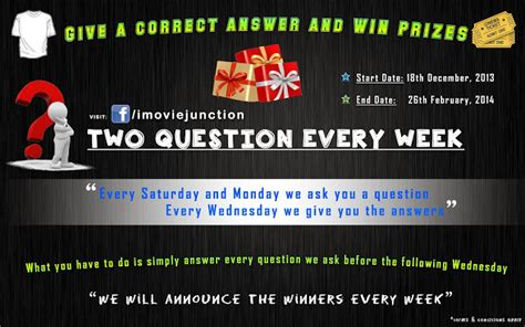 film quiz contest imovie junction