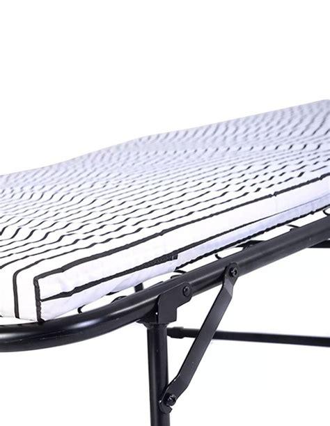 Folding Metal Guest Bed Spring Steel Frame Mattress Cot Folding Guest Bed With Steel Frame