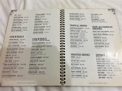 room 39 menu room service menu picture of white hotel intramuros manila tripadvisor
