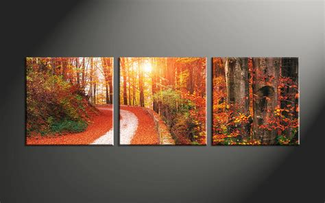 canvas prints 3 piece colorful scenery autumn canvas art prints