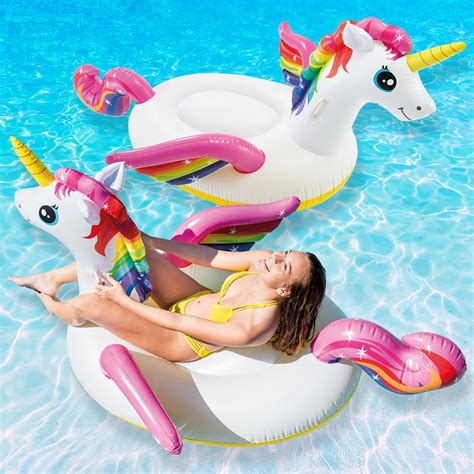 Intex Unicorn Ride On Pelung intex unicorn ride on pool float 2 pack 57561ep 02 the