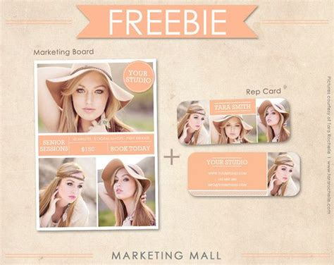free photography templates free senior rep card template and marketing board free