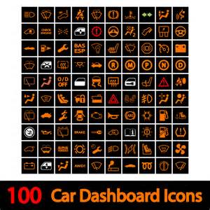 Car Light Symbols Explained 100 Car Dashboard Icons Icons On Creative Market