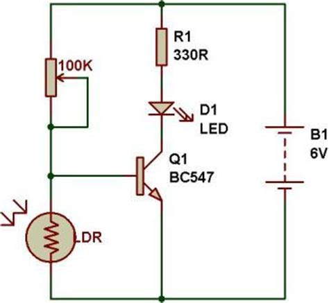 light variable resistor sensor with variable resistor buildcircuit