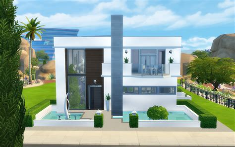 modern house blog my sims 4 blog modern house no cc by viasims