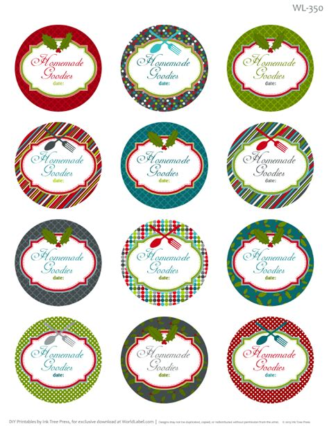 printable homemade stickers printable christmas labels for homemade baking