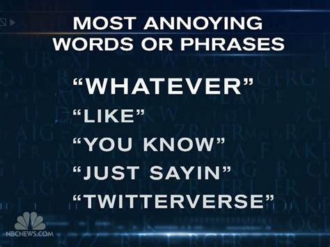 10 Most Annoying Words by 2012 S Most Annoying Words And Phrases Just Sayin