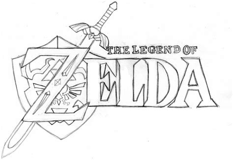 zelda triforce coloring page zelda logo by tashfeen123 on deviantart