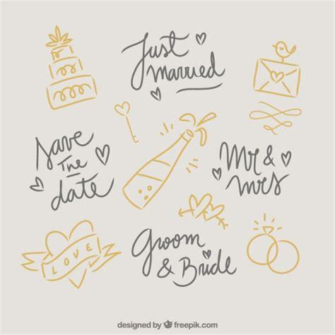 wedding doodle vector free doodles wedding elements vector free