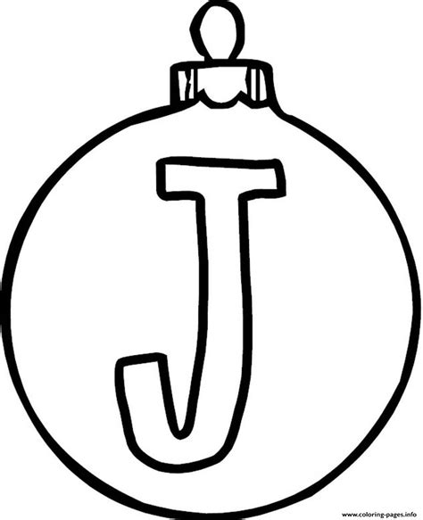 Coloring Pages For Ornaments by Ornament J Alphabet 1c16 Coloring Pages Printable