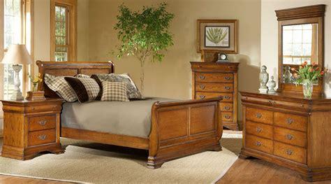 american oak bedroom furniture shenandoah american oak sleigh bedroom set from largo