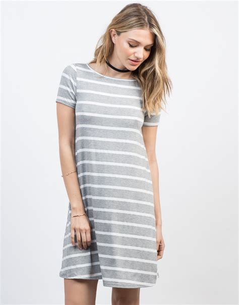 striped swing dress striped swing tee dress light grey striped dress