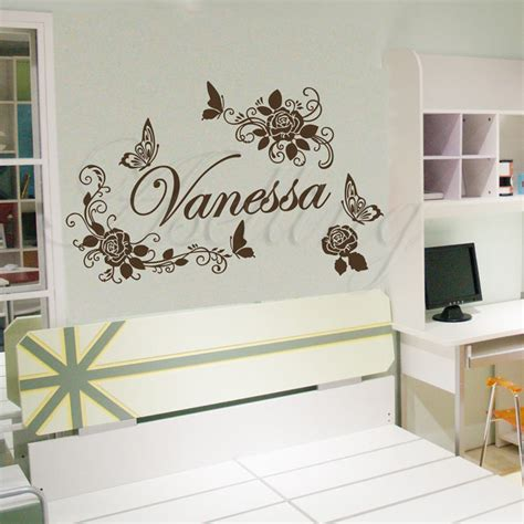 Small Home Decor Decals 10 073 1 Small Size Personalized Name Butterflies